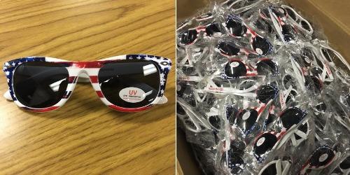 patriotic sunglasses - binghamton mets - 7-2-2016