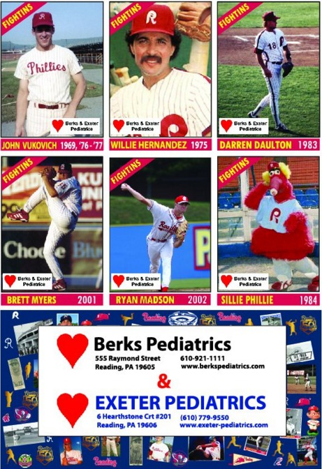 50 greatest players card set #2 - reading fightin phils - 4-12-2016