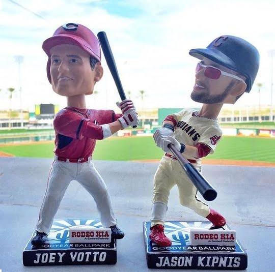 Cleveland Indians Cincinnati Reds Joey Votto Jason Kipnis Bobblehead