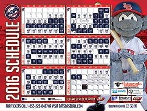 Louisville Bats Magnet Schedule 4-14-2016