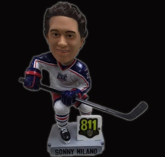 Sonny Milano Bobblehead - Lake Erie Monsters - 3-25-2016