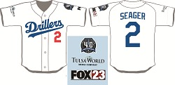 Tulsa Drillers Corey Seager Dodgers Jersey 8-25-2016