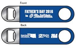 Tulsa Drillers Fathers Day Bottle Opener 6-19-2016