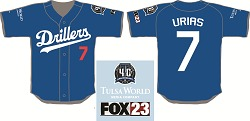 Tulsa Drillers Julio Urias Drillers Dodger Blue Jersey 8-11-2016