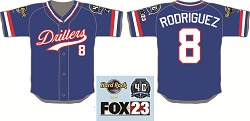 Tulsa Drillers Throwback Pudge Rodriguez Jersey 6-23-2016