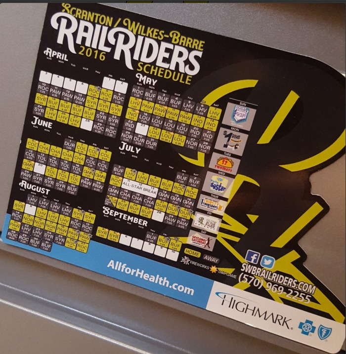 magnet schedule - swb railriders - 4-8-2016