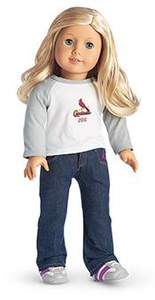 American Girl Doll Tshirt - St Louis Cardinals - July 18, 2016
