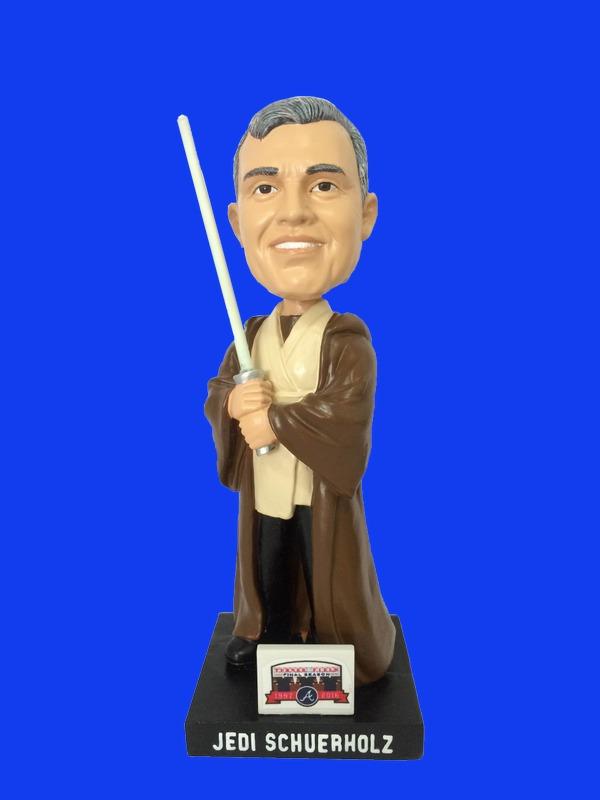 Atlanta Braves Jedi Master Schuerholz Bobblehead 7-1-2016