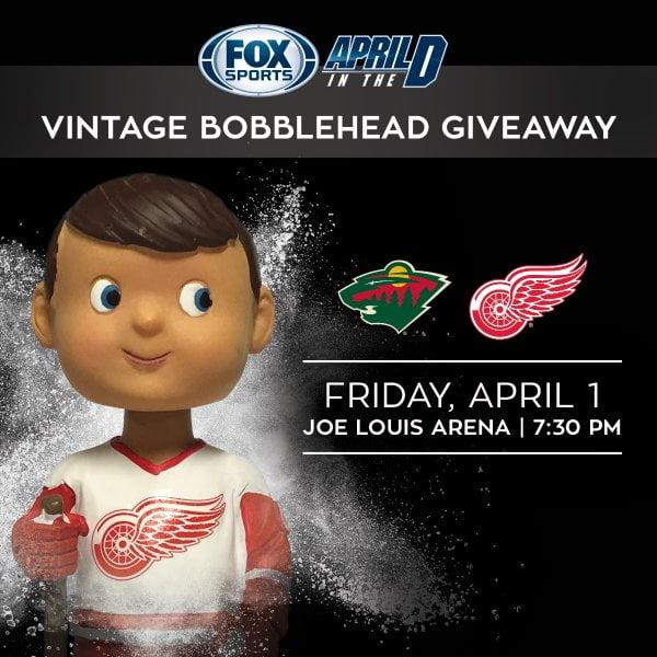 Detroit Red Wings Vintage Bobblehead 4-1-2016