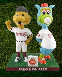 Fang and Whiffer Bobblehead - Wisconsin Timber Rattlers - 4-9-2016