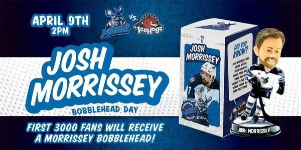 Manitoba Moose Josh Morrissey Bobblehead 4-9-2016