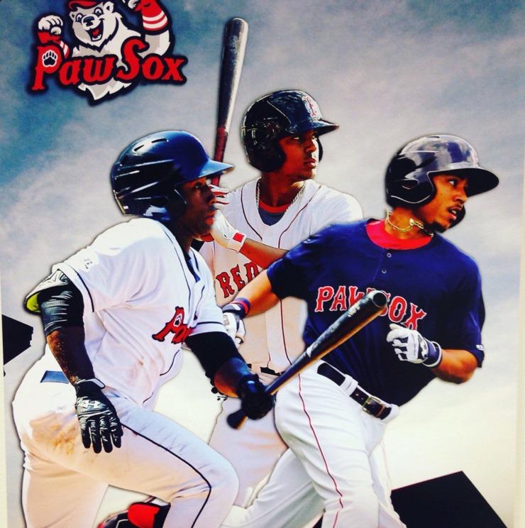 Opening Night Poster - Pawtucket Red Sox - 4-7-2016