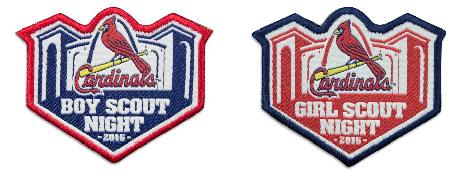 boyscout and girlscout night patch - st louis cardinals - 4-18-2016