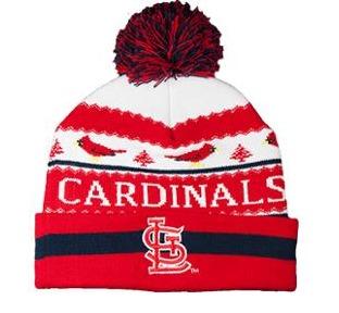 christmas knit cap - st louis cardinals - 7-21-2016