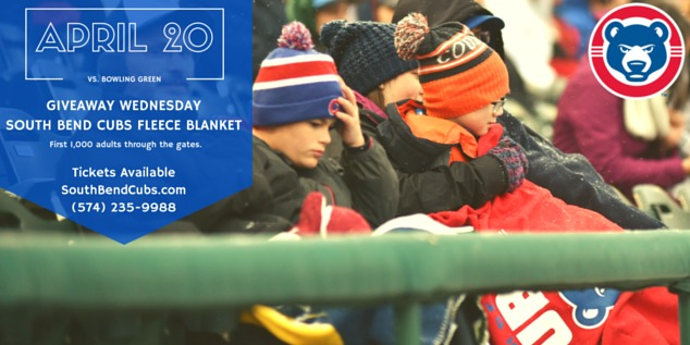 fleece blanket - south bend cubs - 4-20-2016