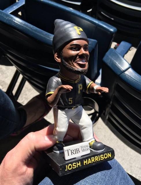 josh harrison gnome - pittsburgh pirates - 4-17-2016
