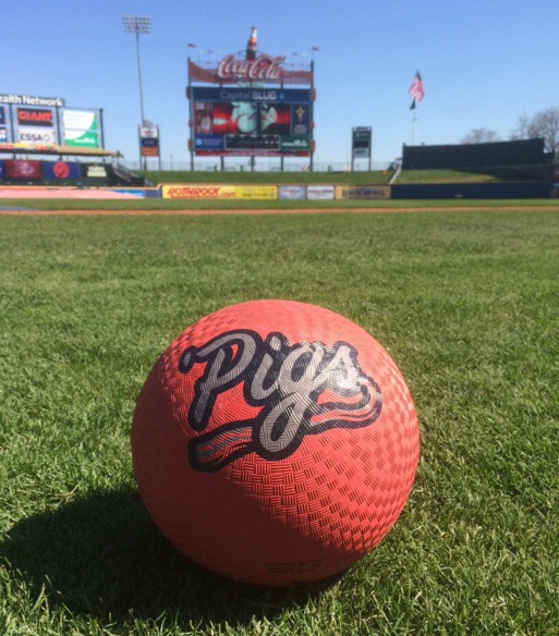 kickball - lehigh valley ironpigs - 4-17-2016