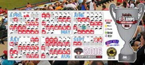 magnet schedule - hickory crawdads - 4-14-2016