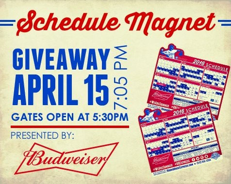 magnet schedule - round rock express - 4-15-2016
