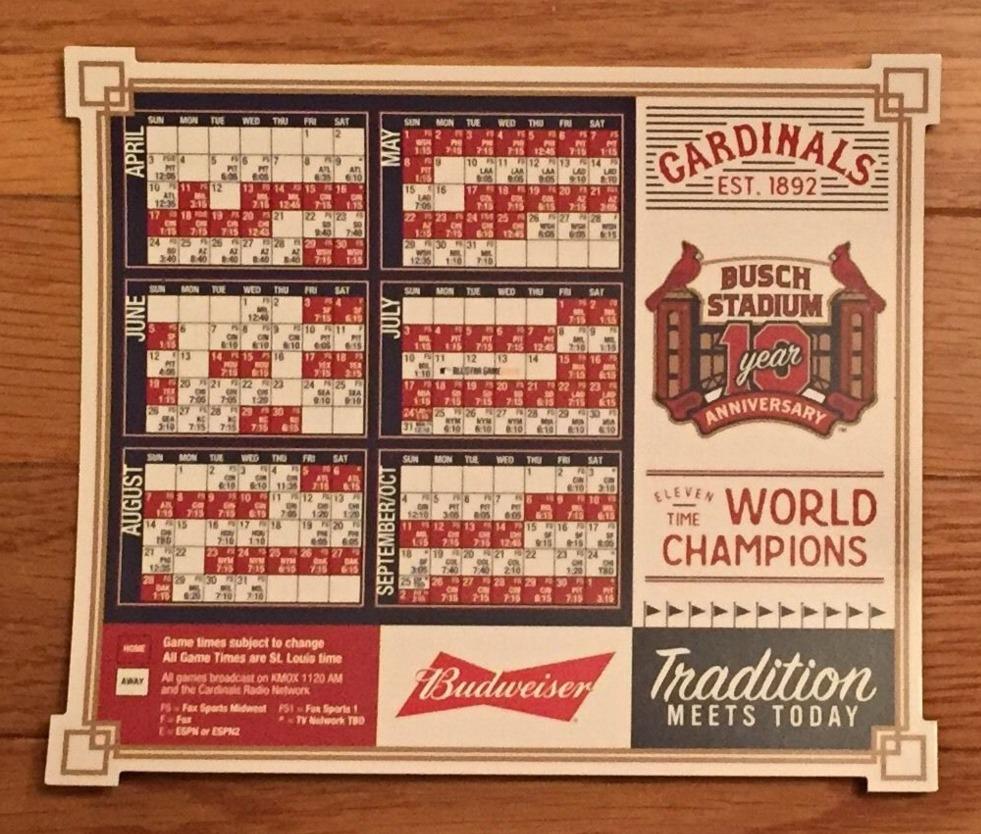 magnet schedule - st louis cardinals - 4-11-2016