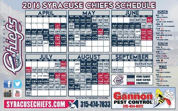 magnet schedule - syracuse chiefs - 4-13-2016