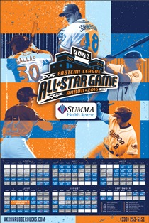 schedule poster - akron rubber ducks - 4-14-2016
