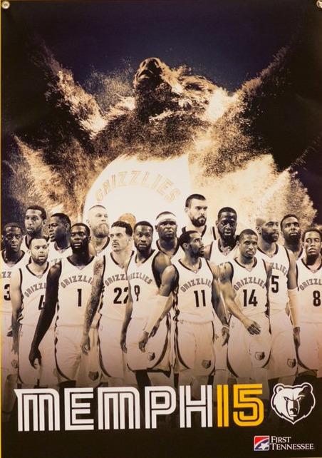 team poster - memphis grizzlies - 4-9-2016
