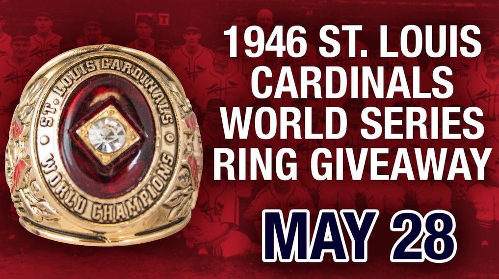 1946 replica world series ring - springfield cardinals - 5-28-2016