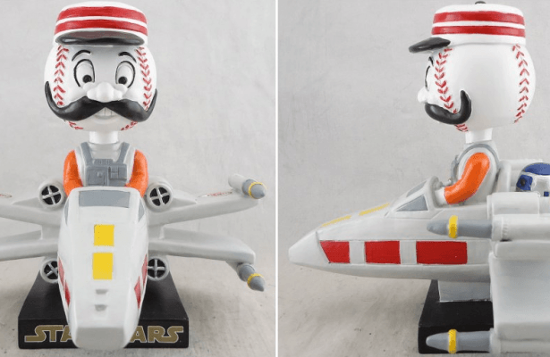 Cincinnatti Reds - Mr. Redlegs Bobblehead Star Wars X-Wing - 5-7-2016