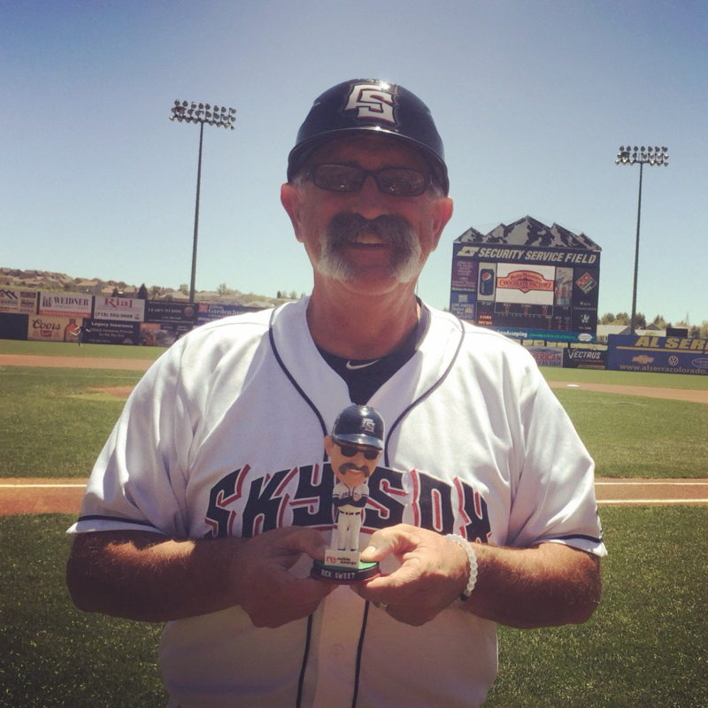 Colorado Springs Sky Rick Sweet Bobblehead 7-2-2016