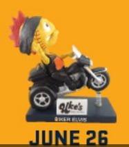 Kenosha Kingfish Harley Davidson Biker Elvis Bobblehead 6-26-2016