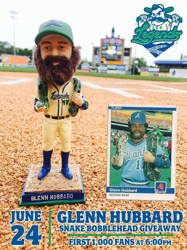 Lexington Legends Hubbard Boa Constrictor Bobblehead 6-24-2016