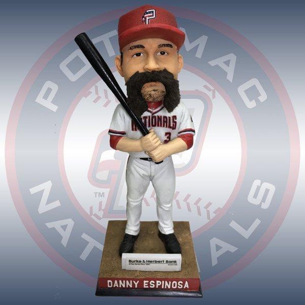 P Nats Danny Espinosa Hairy Fu Manchu Bobblehead 7-9-2016