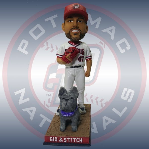 Potomac Nationals' 2016 Fan Vote Gio Gonzalez and his dog Stitch Bobblehead