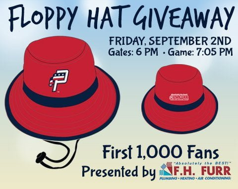 Potomic Nationals Floppy Hat 9-2-2016