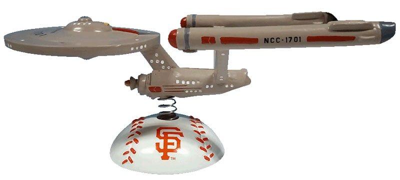 San Francisco Giants Star Trek Enterprise Bobble 9-16-2016