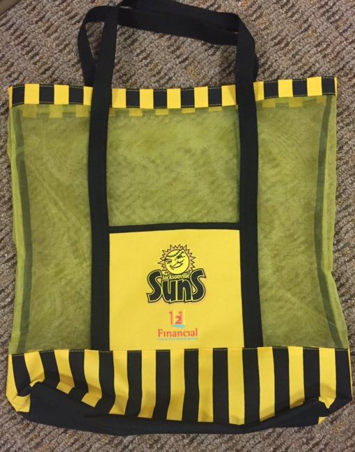 beach bag - jacksonville suns - 5-21-2016
