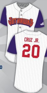 jose cruz jr throwback replica jersey - lancaster jethawks - 5-14-2016
