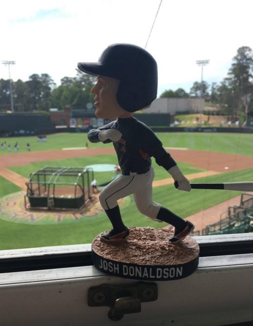 josh donaldson bobblehead - auburn tigers (mens ncaa baseball) - 5-15-2016