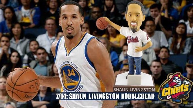shaun livingston bobblehead - peoria chiefs - 7-14-2016