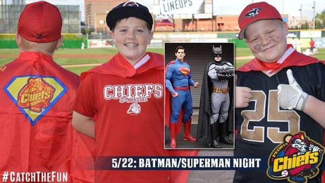 superhero cape - peoria chiefs - 5-22-2016