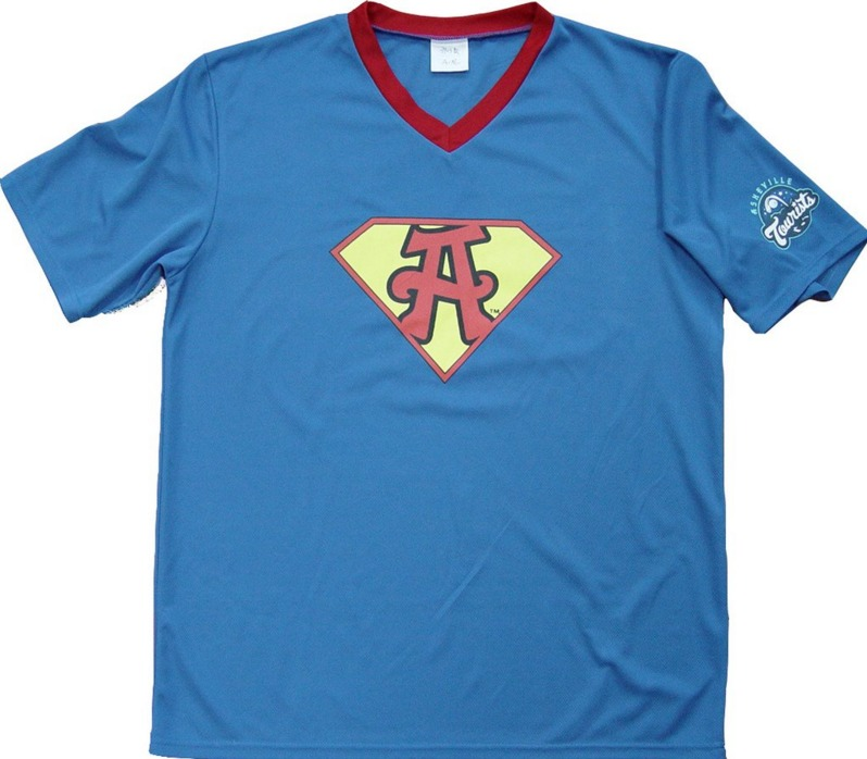 superhero replica jersey - asheville tourists - 5-21-2016