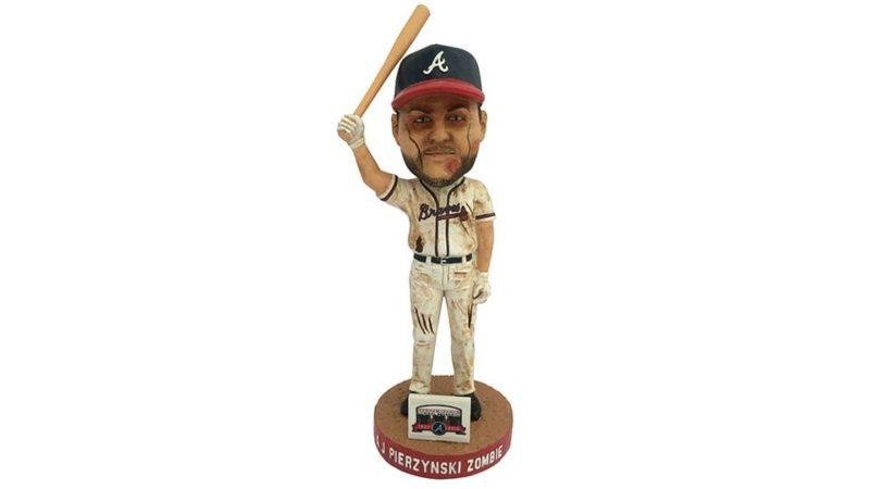 Atlanta Braves A.J. Pierzynski Zombified Bobblehead 7-15-2016
