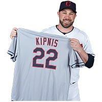 Cleveland Indians Jason Kipnis Road Gray Jersey 6-18-2016