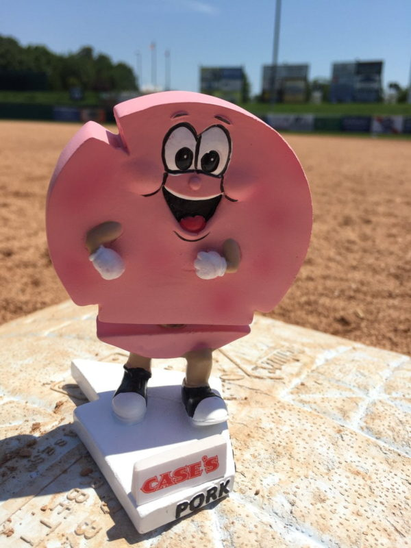 Lakewood Blueclaws Pork Roll Bobble Waist 6-30-2016