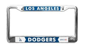 los angeles dodgers license plate frame 6 6 2016
