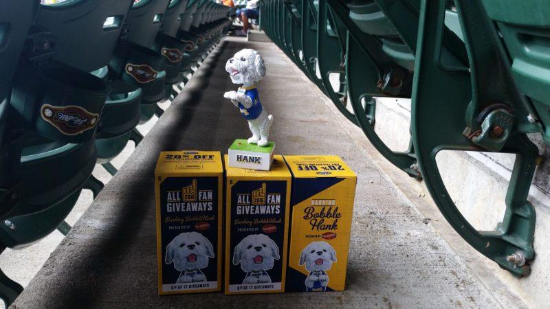 Milwuakee Brewers Hank Barking Bobblehead 6-12-2016