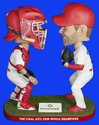 St Louis Cardinals Adam Wainwright and Yadier Molina Final Out Dual Bobblehead 6-4-2016