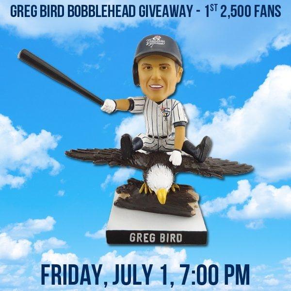 Staten Island Yankees Greg Bird Bobblehead 7-1-2016