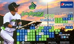 Vermont Lake Monsters Schedule Magnet 6-19-2016